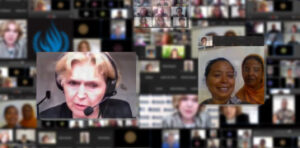 Collage Photo of Mary Lawlor with different Human Rights Defenders