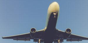 Plane Flying through the air